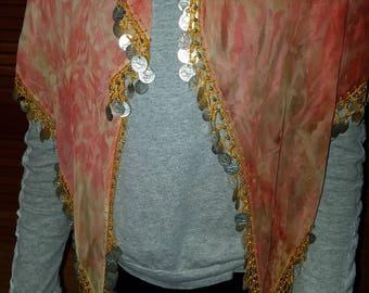 Belly Dancer Veil W/Coins