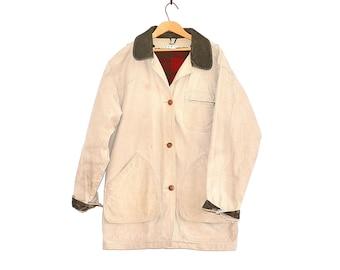 LL Bean Barn Coat - Vintage Work Coat - LL Bean Field Jacket - Canvas Farm Coat - Vintage LL Bean Freeport Maine - Distressed Workwear