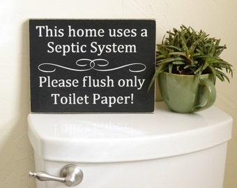 Do not flush septic system rules sign bathroom decor for 1 bathroom septic system