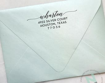 Custom Calligraphy Address Stamp