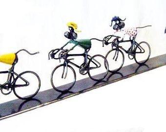 Mouse Tour de France Cycle Race Sculpture