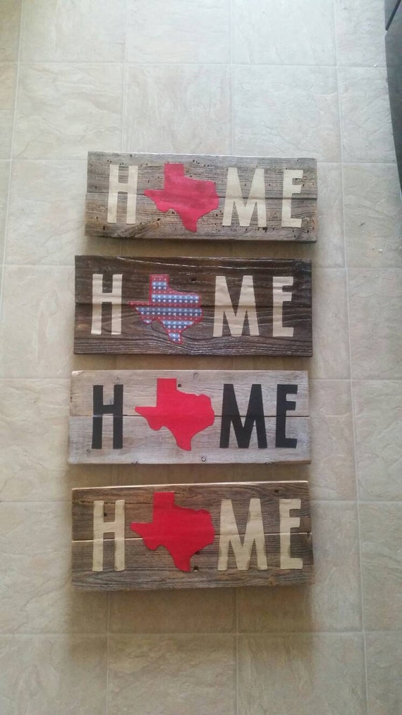 Texas home wood sign reclaimed woodrustic home decor tx for Texas home decorations