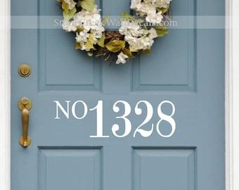 Front Door Number Decal Vinyl Number Door Decal Custom House Number Decal Door Decor Home Decor Porch Decor Home and Living Vinyl Decal