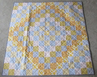PATTERN Easy Trip Around the World Quilt Pattern/Easy Baby Quilt/Modern Baby Quilt Pattern