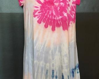 tie dye dress, tie dye shirt, boho dress, beach cover up, beach cover up dress