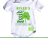 Personalized First St. Patrick's Day Iron On Transfer - Shamrock Iron On - Saint Patrick's Day Iron On Transfer - Digital & Printed