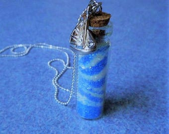 Sailing - Ocean Waves Glass Vial Necklace