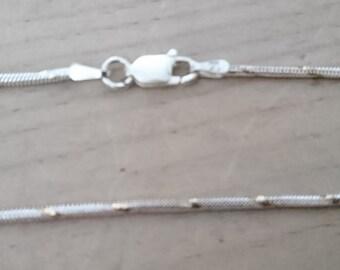 Vintage sterling silver rope design bracelet