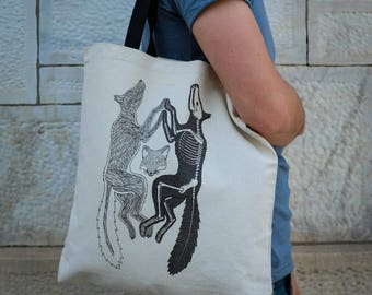 Anatomy of the Fox || Tote Bag || 100% Recycled Cotton