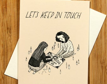 Let's Keep In Touch greeting card