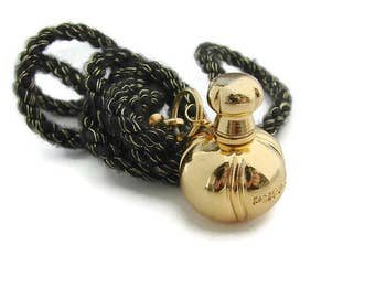 Christian Dior Poison Gold perfume bottle pendant Black gold necklace Dior Fashion necklace Small perfume charm Fashion girl jewelry gift