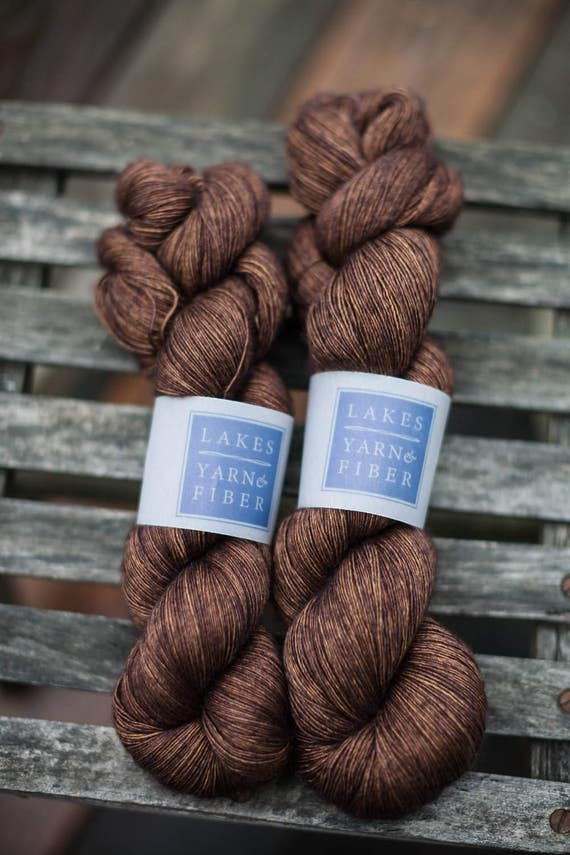 Alturas Lace Superwash Merino Yak and Silk Fingering Weight Hand Dyed Yarn