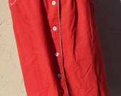 Vintage Red Skirt with Wh...