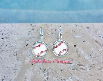 Baseball Monogram Earrings, Baseball Jewelry, Baseball Accessories, Personalized Baseball,Gifts for Her, Gifts under 10, MB321