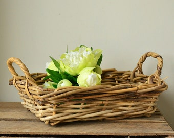 Rustic Woven Wicker Decorative Basket