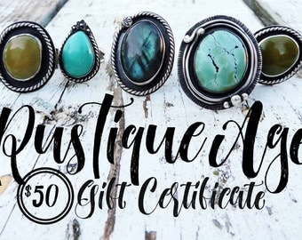 Gift Certificate | 50 | Fifty Dollar Value // RusTiqueAge