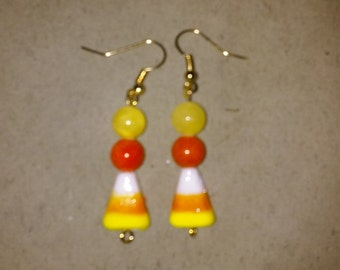 Candy Corn Earrings, Style #2
