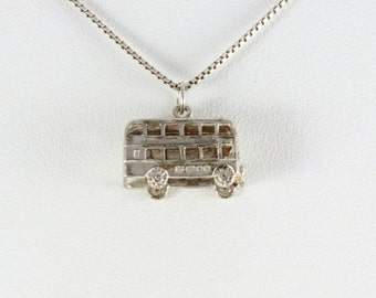 Sterling silver British Double Decker Bus Charm