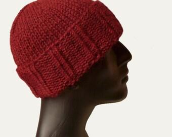 Skull Beanie - Mens Knit Hat - Beanie Hat - Cuffed Beanie - Mens Winter Hat - Bulky Knit Hat - Mens Hat - Cuffed Hat - Warm Winter Hat