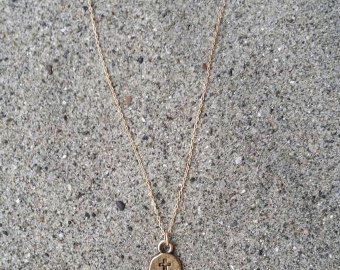 Cross Necklace, Tiny Cross Pendant, Gold Cross, Tiny gold cross, Cross pendant, Gold Cross Necklace