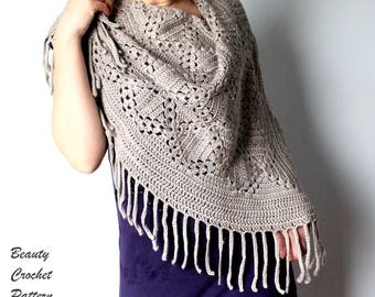 Crochet Pattern Shawl, Crochet Pattern Scarf, Crochet Scarf Pattern, Crochet Shawl Pattern, Crochet Patterns for Women, Prayer Shawl Pattern