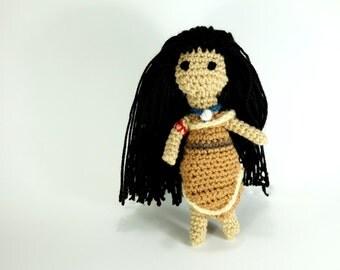 Pocahontas Disney Princess Amigurumi Yarn Crochet Doll
