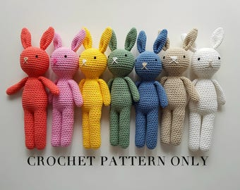 Bunny Rabbit Crochet Pattern - Amigurumi Rabbit Pattern - PDF File only, NOT Finished Product