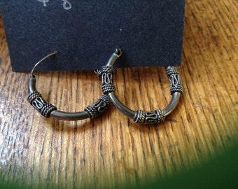 Sterling silver hoops # 2