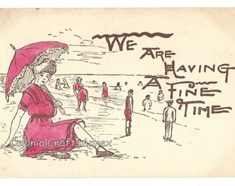 Vintage Postcard - Frank Waters French - We Are Having A Fine Time  - 1905
