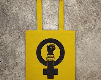 feminist GIRL POWER feminism tote shopper bag protest shopping Women's Rights
