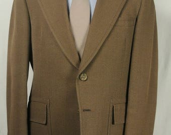 Hart Schaffner Marx Jack Nicklaus Solid Brown Wool Two Button Two Piece Lounge Suit Men's Size: 40R