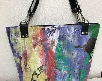 Graffiti Style, Hand Painted Tote