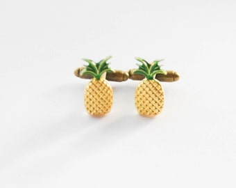 Pineapple Accessories pineapple cufflinks | etsy