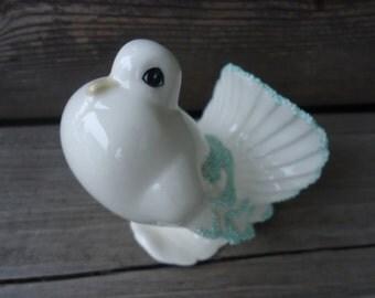 Vintage White Dove Figurine