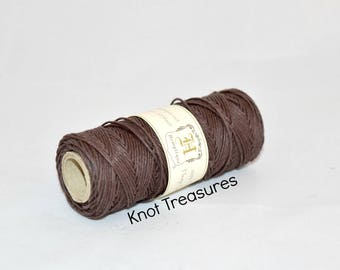 Brown Hemp Twine, Brown 1mm Dyed Hemp Cords, Twine, Hemp Twine, Dark Brown Strings