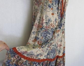 Hippie Dress Sundress Boho Dress Cotton Sleeveless Dress