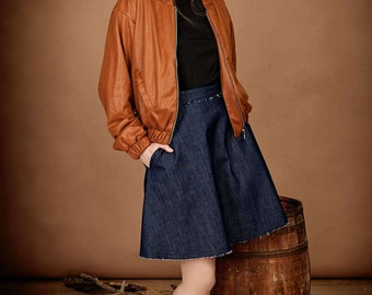 """Short jeans skirt navy, Bio-Denim, organic """"FRANKIE"""""""