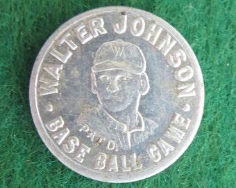 Original 1922 Washington Senators Walter Johnson Baseball Game Coin Token - Free Shipping