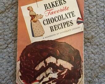 Baker's Favorite Chocolate Recipes, 1958