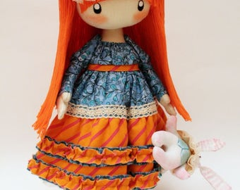 Cute doll Alice MADE TO ORDER Rag doll Cloth doll Gift Best friend gift Alice in Wonderland mothers day gift birthday gift Gifts fo Mom