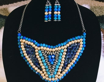 Handmade Beaded Bib Necklace