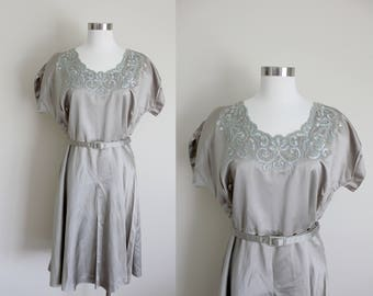1940s Plus Size Evening Dress | Sequin Evening Dress | Extra Large