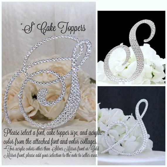 S Wedding Cake Topper Gold Letter S Cake Topper S Monogram