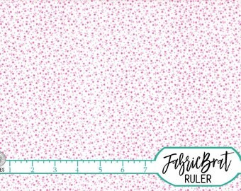 TINY HEART Fabric by the Yard, Fat Quarter NURSERY Fabric Small Print Fabric Pink Fabric 100% Cotton Fabric Apparel Quilting Fabric t5-11
