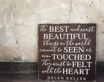 Helen Keller Quote - frameless sign