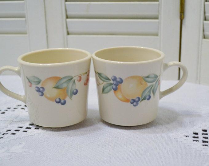 Vintage Corelle Abundance Cup Mug Set of 2 Fruit Design Corning Ware Replacement Panchosporch