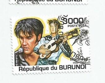 3 Elvis Presley Postage Stamps From Burundi