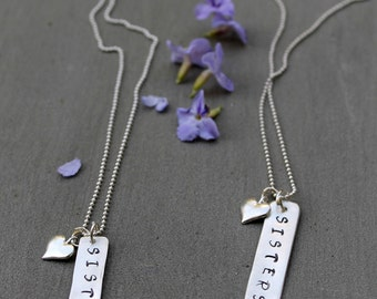 Sister necklace for 2, Personalized Sister Gifts, Sister Birthday Gifts, Three Sister Jewelry, Jewelry for Sisters, Necklace for Sisters