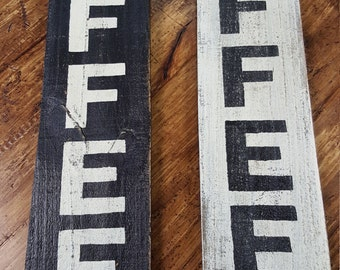 Wood Sign -COFFEE sign on reclaimed wood - Kitchen sign - Coffee Bar - Country Decor - Rustic sign