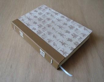 Hardcover Journal | Hardcover Notebook | Blank Journal | Blank Notebook | Blank Pages | Old Fashioned | Brown Journal